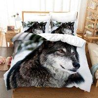 Conjuntos de ropa de cama Lobo Sitio individual Twin Queen Full King Tamaño de Animal Cama Kid Dormitorio Dormitorio Duvetcover 36