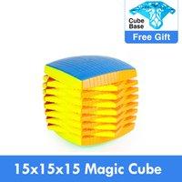 الترويجي moyu 15 طبقات 15x15x15 مع هدية علبة سوداء لاصق مكعب سرعة السحر لغز 15x15 التعليمية كوبو ماجيكو اللعب للطفل