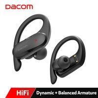 스포츠 하이브리드 드라이버 이어폰을위한 Dacom Satlete TWS Pro 블루투스 이어 버드 트루 무선 스테레오 헤드폰 HIFI 방수