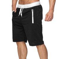 Running Quick Shorts Mens Gym Fitness Sports Bermuda Jogging Training Short Summer Male Multi-pocket Beach Sweat Solid color cotton shorts