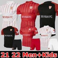 21 22 FC Sevilla Soccer Jersey 2021 2022 EVER BANEGA EN-NESYRI NAVAS DE JONG EL HADDADI REGUILON Football Shirt Men kids camisetas futbol