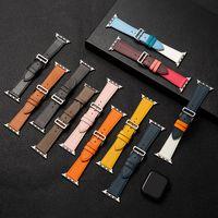 Anwendbar auf Apple Watch Strap Kopfschicht Leder Pin Schnalle Stil IWATCH1 2 3 4 5 6 SE 38-40mm 42-44mm Leder Watch-Bands