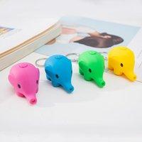 Lindo elefante LED llavero llavero sonido mini linterna niños juguete bolso colgante mujeres hombres fiesta joyería regalo