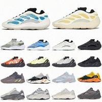 Erkekler Kadınlar Krem Dalga Işık Pembe 700 Koşu Ayakkabıları V1 Kalsit Kanye Glow Mnvn Yansıtıcı V2 Oniks Katı Gri Sun Runner Kemik V3 Batı Eğitmenler Sneakers