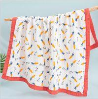 الطفل حمام منشفة الطباعة الكرتون منشفة 6 طبقات الرضع swaddling بطانية الشاش القطن الوليد التفاف القماش عربة البطانيات GWC6688