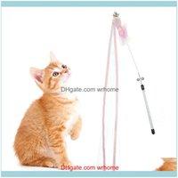 Ev Garden1 Adet Pet Komik Kedi Çubuk Yaratıcı Şerit Teaser Değnek Interaktif Oyuncaklar Sopa Eğitim Malzemeleri Bırak Teslimat 2021 NN7FV
