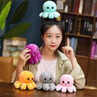 3-5 дней обратимый Flip осьминоги наполненные куклы мягкие двусторонние экспрессию плюшевые игрушки взрослые детские дети подарок куклы рождественские подарки на день рождения оптом 496