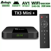 TX3 Mini+ Android TV Box Amlogic S905W2 2GB 16GB Smart TVbox Supports 2.4G 5G Dual Band Wifi BT Media Player with Disply TX3 Mini Plus Android11