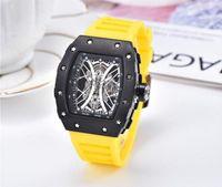 Резиновая силиконовая стальная сетка для часов ремень безопасности роскошный супер хороший президент день дата watchl mens reloj wristwatch секундомер