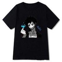 Men's T-Shirts My Hero Academia Funny Cartoon T Shirt Men Fashion Dabi T-shirt Graphic Japanese Anime Tshirt Hip Hop Top Tees Male