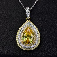 HBP Fashion Shi Pei's New Stone Necklace con forma de agua con forma de circón colgante de zircon se inciden densamente con diamante y joyas de separación eléctrica