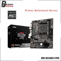 Motherboards MSI B550M A PRO Micro-ATX AMD B550 DDR4 4600(OC) MHz 64G M.2 SATA 6 Gbps Desktop Socket AM4 Motherboard CPU