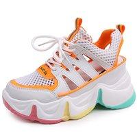 RASMEUP Wedge High Heels Women's Sandals Summer Fashion Buckle Platform Rainbow Cutout Womn Shoes Ladies Trainers Footwear 210610