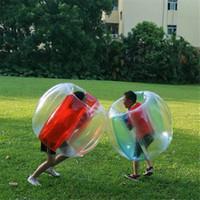 Giyilebilir Şişme Kabarcık Futbol Topları Buddy Tampon Topları Dev İnsan Hamster Knocker Vücut Zorb Topu için Göndermek Tren Deniz