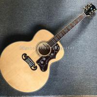 2021 fábrica novo personalizado 42 polegadas guitarra acústica, top spruce sólido, lados de bordo de chama e costas, alta qualidade guitarra