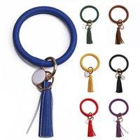 Keychains Fashion Women Tassel Charm Wristlet Faux Leather Keychain Key Ring Holder Bag Car Pendant Jewelry Decor Accessory Gift