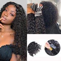 مجعد الشريط في الشعر ملحقات MCHINE جعل البرازيلي ريمي الشعر اللون الطبيعي للنساء