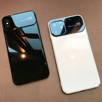 For iPhone 11 12 13 Pro Max Cases 7 8 Plus XR XS Phone Cover Mirror Glass Blanks Protective Coque Anti-fall Case