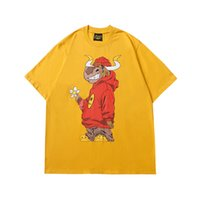 T-shirt Desighner T-shirt Drew House Anno cinese del bue Justin Bieber Bieber High Street T-shirt T-shirt Top Casual Moda Abbigliamento maschile
