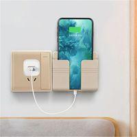 Hooks & Rails Universal Wall Mounted Charging Holder Multi Mobile Phone Organizer Storage Box Hanging Bracket Stand