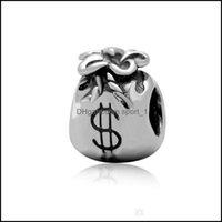 Encantos Conchados Componentes jóias com dinheiro liga charme bead grande buraco moda mulheres jóias estilo europeu para pan diy pulseira bracelete