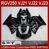 Body Kit voor Suzuki RGV250C SAPC VJ21 RGV250 RGV-250CC Carrosserie VJ-21 PANEL 21HC.72 RGVT RGV 250CC 250 CC RGV-250 All Black Stock 88 89 RGVT-250 VJ 21 1988 1989 OEM FACKING