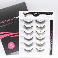 False Eyelashes 3D Glue Free Simulation Mink Easy Wear Lashes Vendors Make Up Tools With Eyeliner Fake Eye Extention
