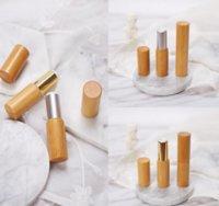 3.8g Bambou classique Tube à lèvres en bois Tube Naturel Lèvre Gloss Tuyau Coquille DIY Vide High-End Bamboo Rouge de lèvres