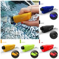 Spring-loaded portable car safety life hammer escape hammer window breaker hole punch