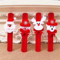 Nieuwe aankomsten kerst accessoires kinderen cadeau met lichtgevende creatieve klappende ring slappig armband