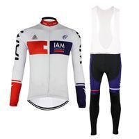 Iam Tour de فرنسا الدراجات جيرسي مجموعة الربيع سريعة الجافة روبا ciclismo طويلة الأكمام رجالي دراجة الملابس mtb دراجة ارتداء c0408