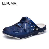 Lufuma Yaz Erkekler Terlik Moda Plaj Sandalet Ayakkabı Erkekler Açık Nefes Çevirme Rahat Oyun Su Erkekler Yaz Ayakkabı 210301