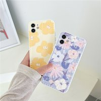 Ins illustration flower phone cases For iphone 11 11Pro 12 12Pro Max 7 8 Plus X XR XS soft silicone shockpoof cover