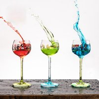 150ml Goblet Ins Printing Cartoon Sweet Wine Cup Glass Creative Crystal Glass Transparent Wine Glass Wholesale