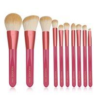 New 10pcs Makeup Brushes Set Foundation Powder Nylon Bristles Wooden Cosmetic Brush Portable Make Up Kit Accessories
