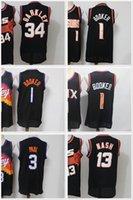2021 NCAA Devin 1 Booker Jersey Chris 3 Paul College Basketball Trikots Mens Steve 13 Nash Charles 34 Barkley schwarz genäht