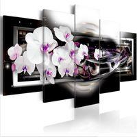 Modern Baskılar Orkide Çiçekler Yağlıboya Tuval Üzerine Sanat Çiçekler Duvar Resimleri Oturma Odası Ve Yatak Odası Için (Çerçeve Yok) 624 S2