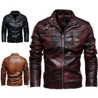 2021LARGE جديد بو سترة دراجة نارية سباق دعوى من العصرية الرجال جلد أفخم معطف