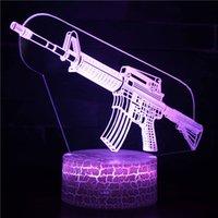 3D Game Setup Rifle LED Night Lights USB Gamer Lights Table Lamp CS Gaming Bedroom Room Decor For Boys Birthday Gift
