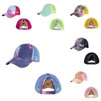 Kid garçon fille baseball casquette soleil visière désordonnée cravate tape chapeaux chapeaux chapeaux de boule de ballon de snapback coton lavé chapeau d'été