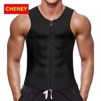 2020 الخصر المدرب مشد سترة لفقدان الوزن قميص النيوبرين الجسم المشكل سحاب ملابس داخلية التخسيس حزام البطن الرجال صائغي