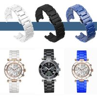 Watch Bands Notched Ceramic Band Watchband Wristband Butterfly Luxury Fashion Men Women Bracelet Strap Watches 16mm 18mm