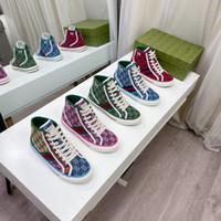 2021 Tasarımcılar Tenis 1977 Sneaker Tuval Luxurys Ayakkabı Bej Mavi Yıkanmış Jakarlı Denim Kadın Ayakkabı ACE Kauçuk Taban İşlemeli Vintage Rahat Sneakers