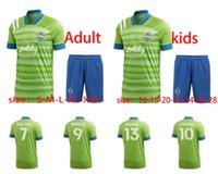 2021 Herrenfußball Seattle Stimme Sportswear 20 21 Erwachsene grünen Anzug # 7 Rhodan # 9 Ruidiaz # 13 Morris Football Hemd