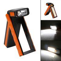 Portabicchieri portatile LED Lampada di ispezione Lampada di ispezione Lampada Magnetica Torcia Pieghevole Gancio a mano strumento per garage all'aperto Camping Sport