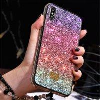 Designer di lusso Bling Diamond Diamond Rhinestone Glitter Cover Back Cover per iPhone XSMAX XR XS 8 7 Plus Bling Cases