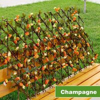 Decorative Flowers & Wreaths Retractable Artificial Garden Fence Expandable Faux Ivy Leaf Privacy Screen Home Panels Outdoor Hedge Decor