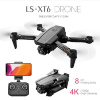 LSRC LS-XT6 Mini Wifi FPV mit 4k / 1080p HD Dual Camera HOLD MODE Faltbare RC Drohne Quadcopter RTF