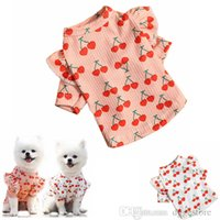 Fashion Pet Dog Apparel Sublimation Clothes Vest Spring Summer Dogg Vests Soft Ventilation Pup Shirt Puppy Sweats for Small Dogs Girl Fruits Cherry Pink A17