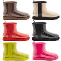 En iyi Tasarımcı Klasik Yün Kaşmir Temizle 20 Kısa II Üçlü Avustralya Bayan Kadın Boot Kış Kar Botları Mini Kürklü Avustralya Est